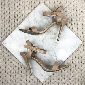 Steve Madden Nude Patent Double Strap Heels